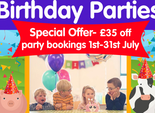 £35 Off Birthday Parties in July