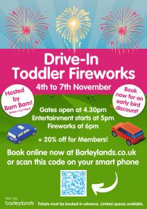 Drive in toddler fireworks at barleylands